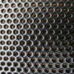 Perforated sheet with round puncture